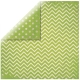 "May Green Chevron 12"" scrapbookpapír"
