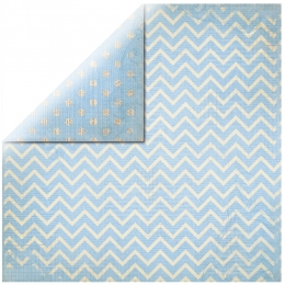 "Light Blue Chevron 12"" scrapbookpapír"