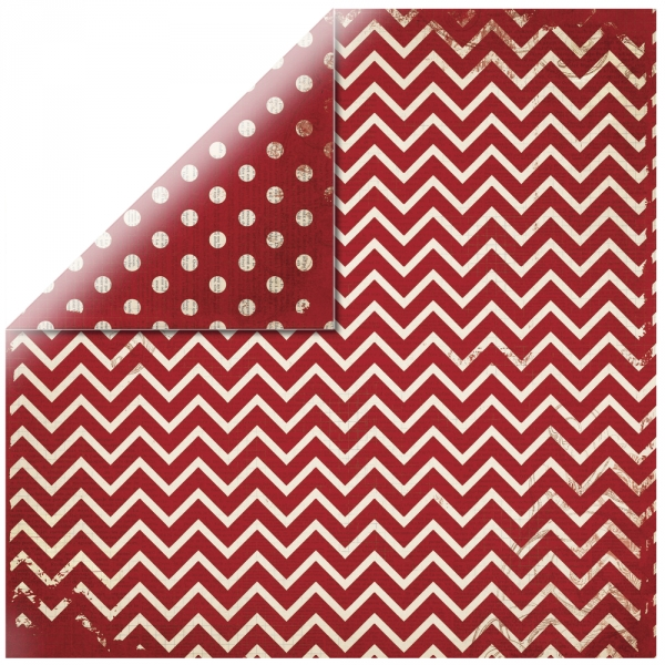 "Cherry Chevron 12"" scrapbookpapír"