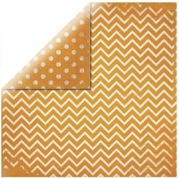 "Orange Chevron 12"" scrapbookpapír"