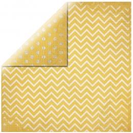 "Sun Yellow Chevron 12"" scrapbookpapír"