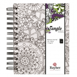 15,5x18 cm Flora Tangle memory journal