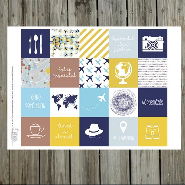 Miénk a világ! 5x5 cm kártya kivágóív