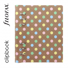 Pastel Spots A5 Filofax Clipbook