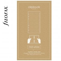 Tennivalók Filofax Clipbook Jegyzetlap