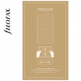 Vonalas Personal Filofax Clipbook Jegyzetlap