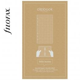 Négyzethálós Personal Filofax Clipbook jegyzetlap