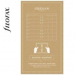 Heti Personal Filofax Clipbook naptárbetét dátum nélküli