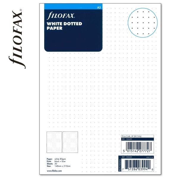 Fehér A5 ponthálós Filofax jegyzetlap