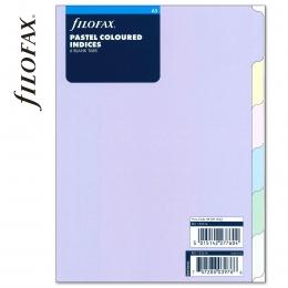 Pasztell A5 Filofax Elválasztólap 6 regiszter