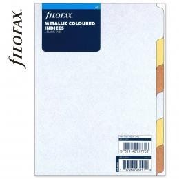 Metallic A5 Filofax Elválasztólap 6 regiszter