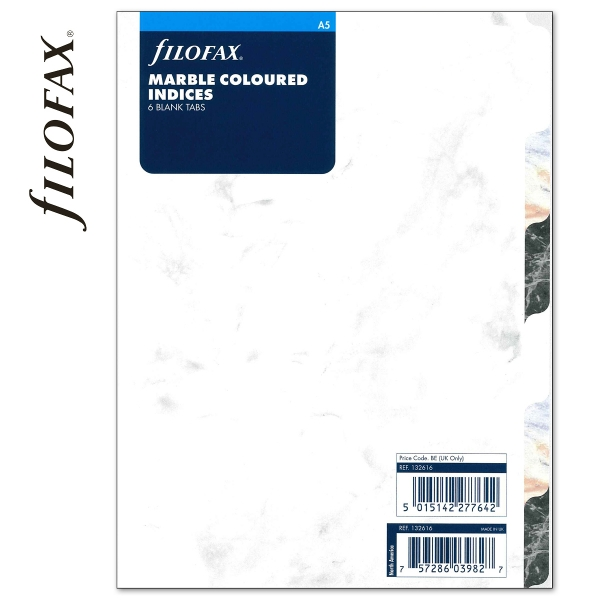 Márvány A5 Filofax Elválasztólap 6 regiszter