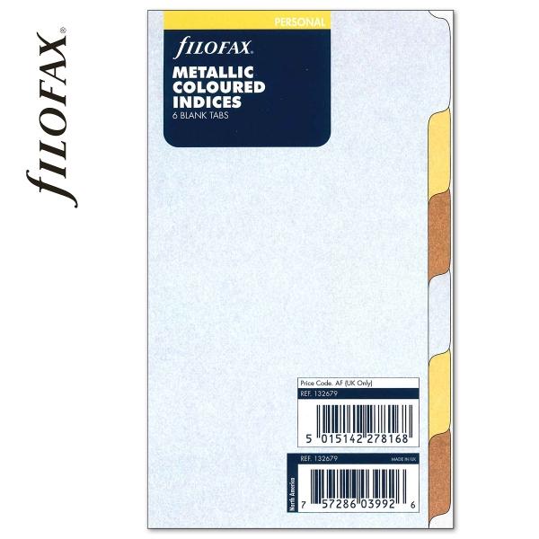 Metallic Personal Filofax Elválasztólap 6 regiszter