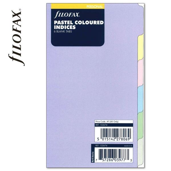 Pasztell Personal Filofax Elválasztólap 6 regiszter