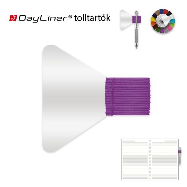 Lila öntapadós tolltartó határidőnaplóhoz