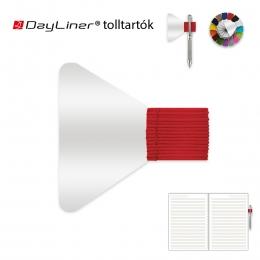 Piros öntapadós tolltartó határidőnaplóhoz