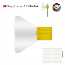 Sárga öntapadós tolltartó határidőnaplóhoz