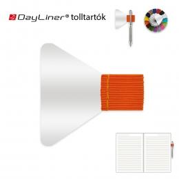 Narancssárga öntapadós tolltartó határidőnaplóhoz