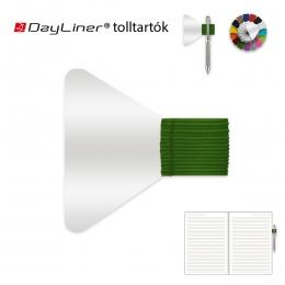 Zöld öntapadós tolltartó határidőnaplóhoz