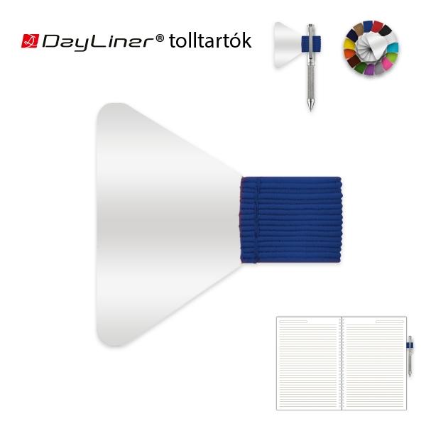 Kék öntapadós tolltartó határidőnaplóhoz