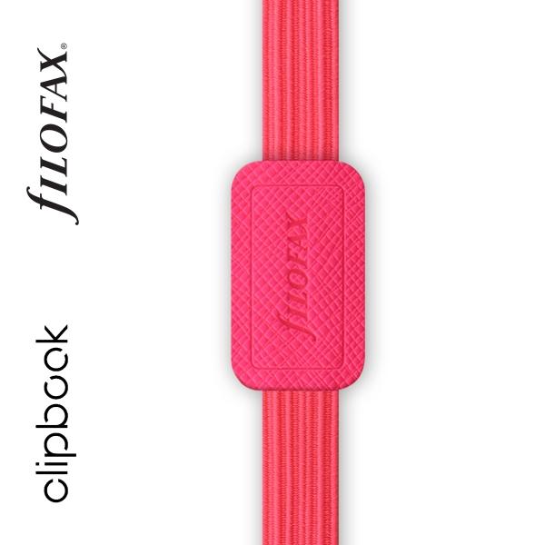 Pink A5 rugalmas zárószalag Filofax Clipbook