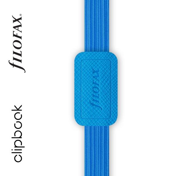 Kék A5 rugalmas zárószalag Filofax Clipbook
