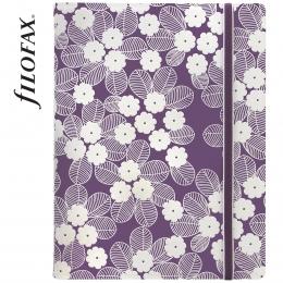 Lila-fehér A5 Filofax Notebook Impressions