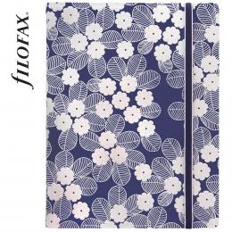 Sötétkék-fehér A5 Filofax Notebook Impressions