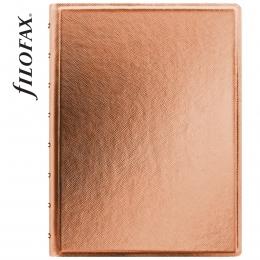 Rózsaarany A5 Filofax Notebook Saffiano Metallic