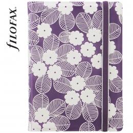 Lila-fehér Pocket Filofax Notebook Impressions
