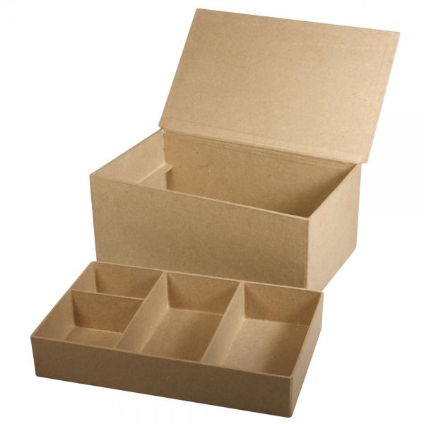 Osztott tálcás papírmasé tárolódoboz