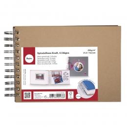 Spirál scrapbook minialbum, 21,5 x 15,5 cm