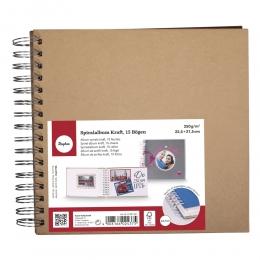 Spirál scrapbook minialbum, 22,5 x 21,5 cm