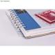 "Fehér lapos 8.5"" | spirál scrapbook album"