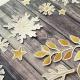 Arany | papír díszítőelem készlet