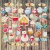 Karácsonyi finomságok | papír díszítőelem készlet