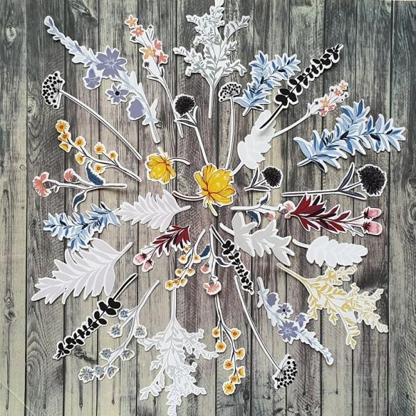 Virágzó ősz | papír díszítőelem készlet