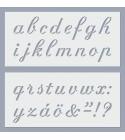 ABC Calligraphy stencil (kisbetűk)