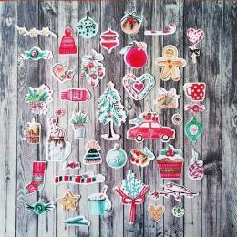 Klasszikus karácsony | papír díszítőelem készlet