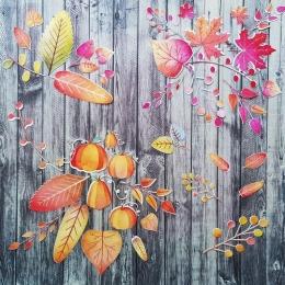 Őszi levelek | papír díszítőelem készlet
