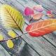 Őszi levelek   papír díszítőelem készlet
