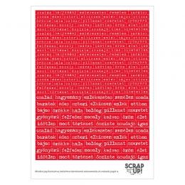 Szócímkék | kivágóív – piros