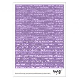 Szócímkék | kivágóív – lila