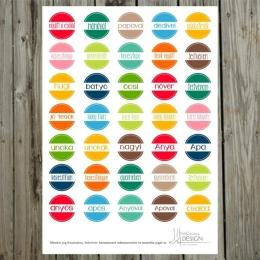 Körcímke | kivágóív – élénk színek