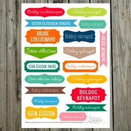Boldog Szülinapot! | kivágóív – élénk színek