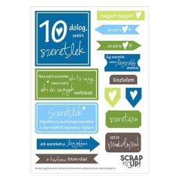 10 dolog, amiért szeretlek | kivágóív – kék zöld