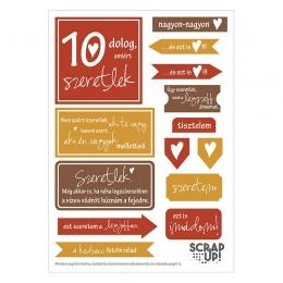 10 dolog, amiért szeretlek | kivágóív – sötétbarna rózsa okker