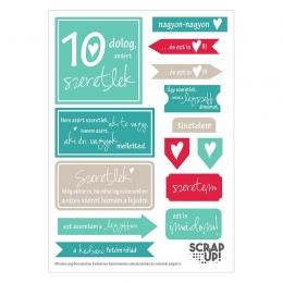 10 dolog, amiért szeretlek | kivágóív – türkiz szürke meggy