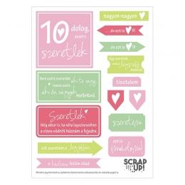 10 dolog, amiért szeretlek | kivágóív – rózsaszín mályva zöld
