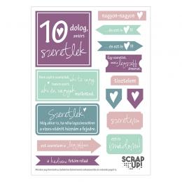 10 dolog, amiért szeretlek | kivágóív – lila mályva türkiz